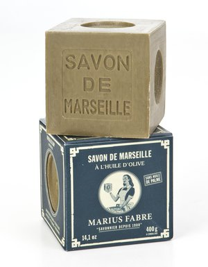 Marius Fabre Tvålkub Marseilletvål Grön 100 g - Tvålshoppen.se