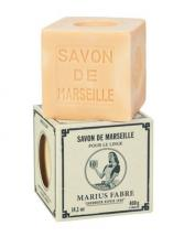 Marius Fabre Tvålkub Marseilletvål vit 400 g - Tvålshoppen.se