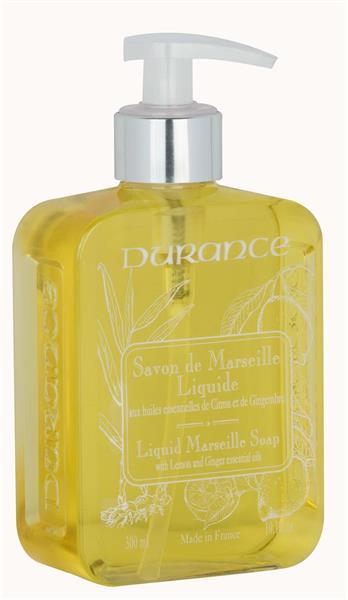 Durance Flytande Marseilletvål Lemon Ginger 300 ml - Tvålshoppen.se
