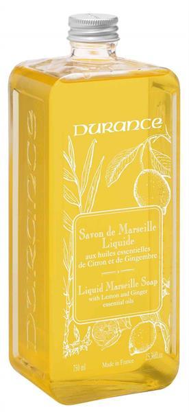 Durance Flytande Marseilletvål Refill Lemon Ginger 750 ml - Tvålshoppen.se