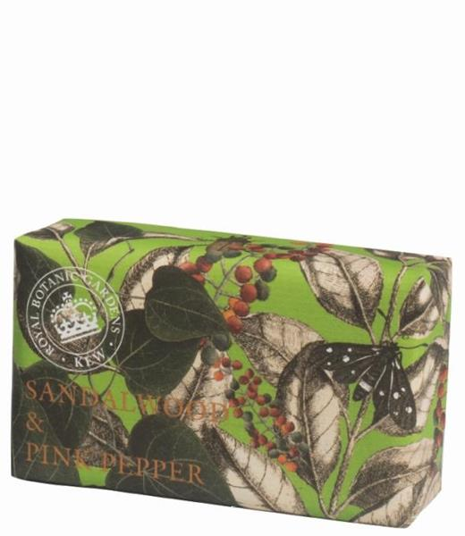 KEW Gardens Handtvål 240 g - Sandalwood & Pink Pepper - Tvålshoppen.se