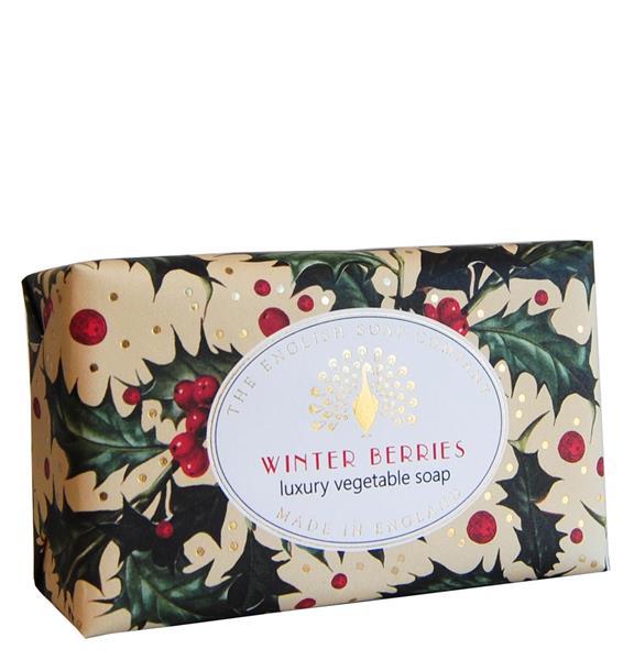 The English Soap Company Vintage Winter Berries , vanilj, nektarin, björnbär 190 g - Tvålshoppen.se