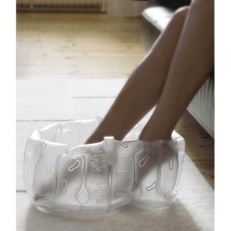 Uppblåsbart fotbad med handtag - Vit - Tvålshoppen.se